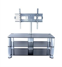 Customize Tempered Glass Stoving Varnish Shelf TV Stand