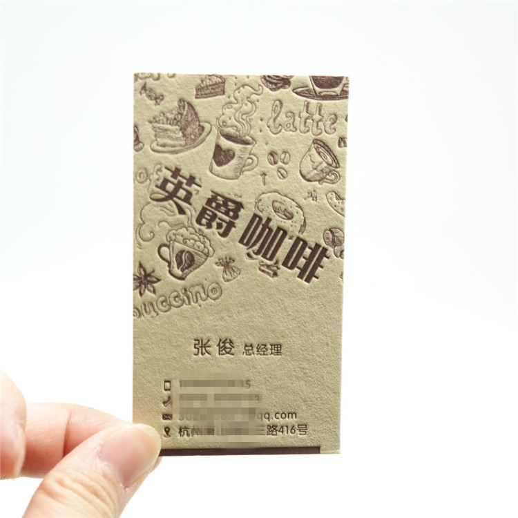 Fancy Paper Embossed 3D Printing Business Cards