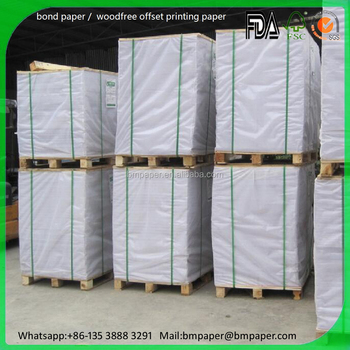 cheap price woodfree offset paper / 60 gsm offset paper / bond paper roll