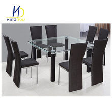 Cheap Small Cbm KD 8 Seaters Modern Dining Room Table Home Glass Dining Table Set