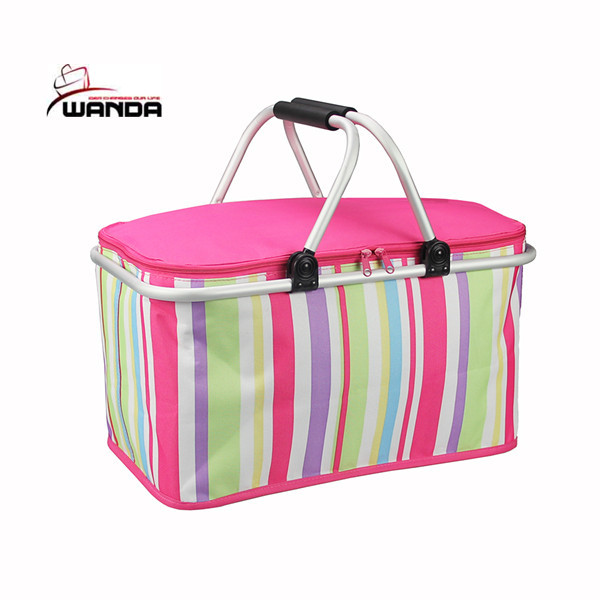 Promotional folding picnic cooler basket with custom logo/OEM orders are welcome
