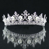 2013 Latest Crystal Pageant custom crown wedding crown bride crown tiaras jewelry