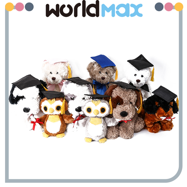 Top Selling Beautiful Animal With Doctorial Hat Soft Baby Girls Toys