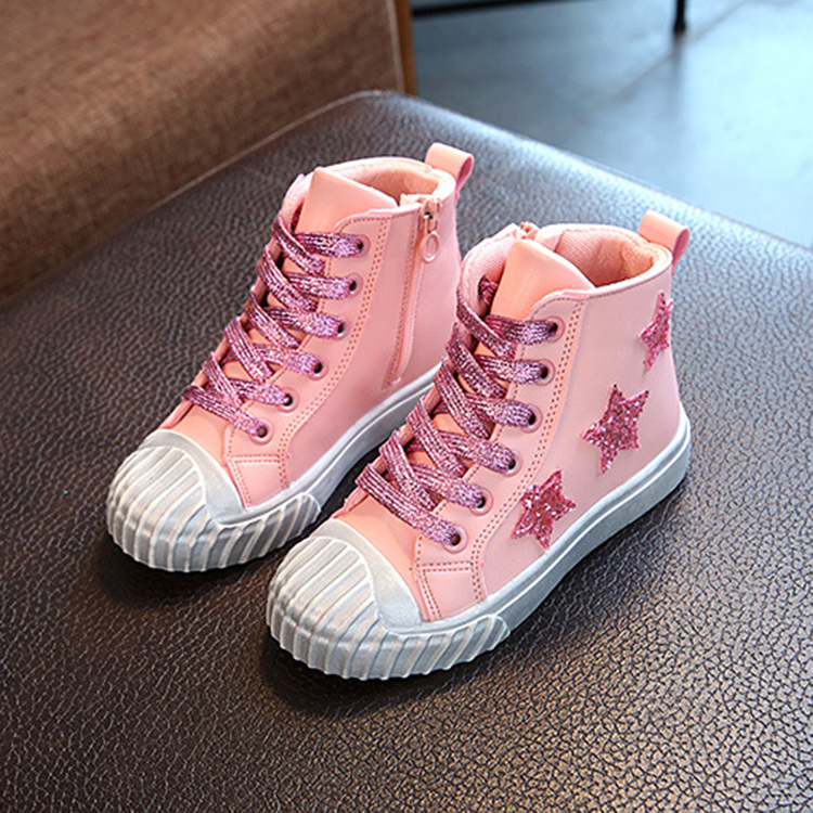 Factory direct price creative zipper design high neck comfortable kids casual <strong>shoe</strong>