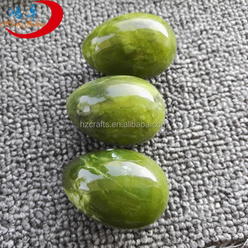 Natural Jade women Yoni used Drilled Egg Nephrite Jade Egg
