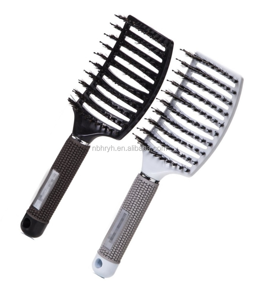 Boar Bristle Hair Brush set , Curved and Vented Detangling Hair Brush for Long, Thick, Thin, Curly & Tangled Hair