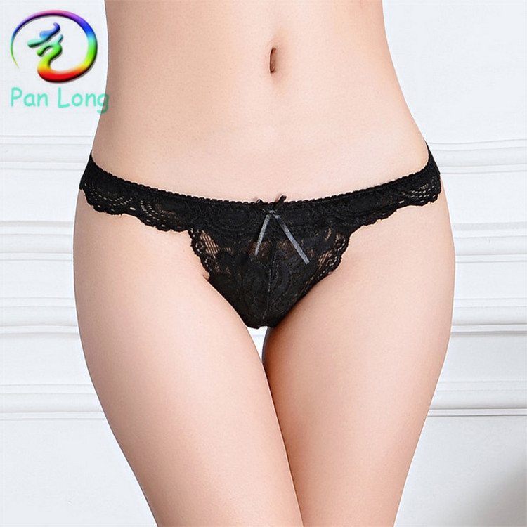 2015 sexy thong Women lace v-string tanga for young girls