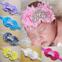 Burrs shabby flowers baby's hair band pearl crown children's headdress Flower childrens Hair Accessories
