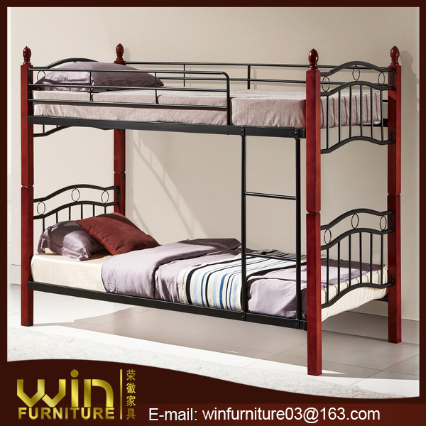 best price military style steel furniture adult wood bunk bed