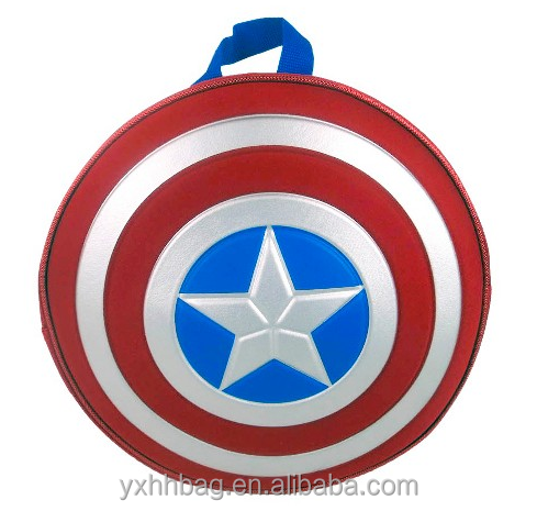 New products 2017 oem Marvel Captain America Boys' Star Backpack Children Fancy School bag (YX-Z032)