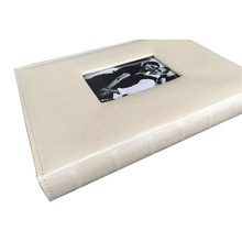 Best price PU cover with embossed window album PP album export to Israel 15X21CM welded bound