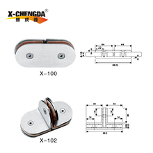 XCHENGDA high quality bathroom glass clips series or bathroom glass accessories
