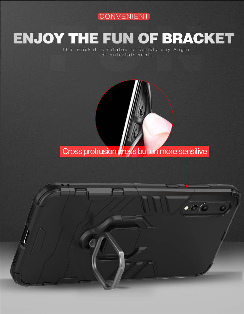 Ring holder stand phone case free sample phone case for Huawei honor 8X MAX