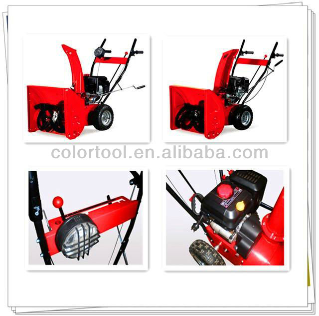 Single-handed Gasoline Track 13HP Snow Blower Rubber Track Jinhua Wuyi
