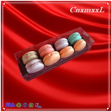 8 pcs cake plastic blister case diaplay clear lid and black base PVC material boxes