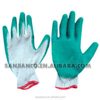 fabric latex coating/ mining safety glove/mechanical work glove