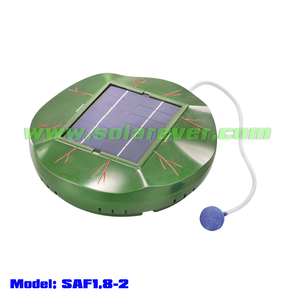 Floating brushless solar pond oxygenator (SAF1.8-2)