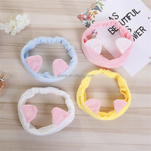 Rabbit shaped long ear girls plush hair band ladies Washing face Facial hair band headbands