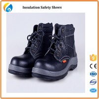 Best quality Best price velcro Black steel toe action Buffalo leather safety shoes