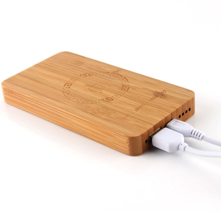 Wood Mobile Power Qi Universal Wireless Power Bank Case