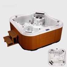Wholesale spa products colorful water lamp 5 person swim spa pool with DVD