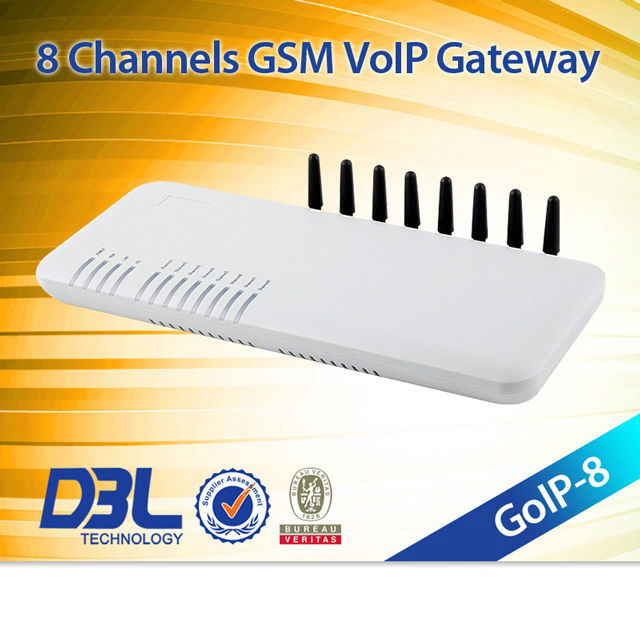 8 ports sip proxy server gateway