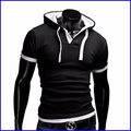 2016 best-selling fashion short sleeves hoodies t-shirt men bicolourable t shirt