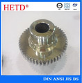 gear motor transmission alloy steel zinc plated/chromed spur gears