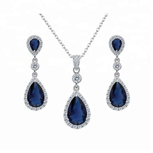 2018 alibaba chinese wholesale 925 silver zirconia wedding jewelry set for women