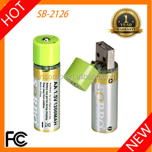 Top Selling Products 2016 Battery Integrated USB Charger Rechargeable Lithium Li ion Batteries