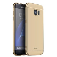 Hot Selling Products Ipaky Cover For Sansung Galaxy S7 Edge Pc Joint Case With Metal Plating On Top