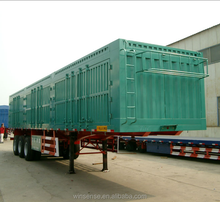 Winsense China High Quality 3 Axles Cargo Wagon Semi Trailer for Sale
