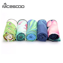 wholesale softtextile yoga towel/ yoga mat towel, non slip custom printed microfiber hot yoga towel