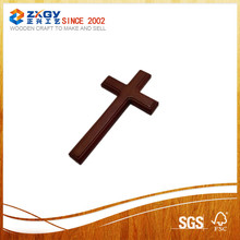 Wooden cross carved customize wooden cross design with printed