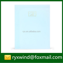 A4 office size custom logo printing l shape plastic pockets file folder clear files