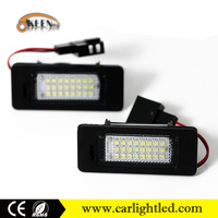 Fit For VW PASSAT/A UDI Q5 Super Bright Auto LED Number Plate Lamp Lights 12V License Plate Reverse Light Assembly