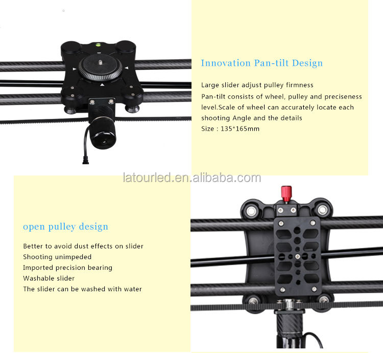 Electric Dolly Slider 80cm Dua Axis Motorized Video Dslr