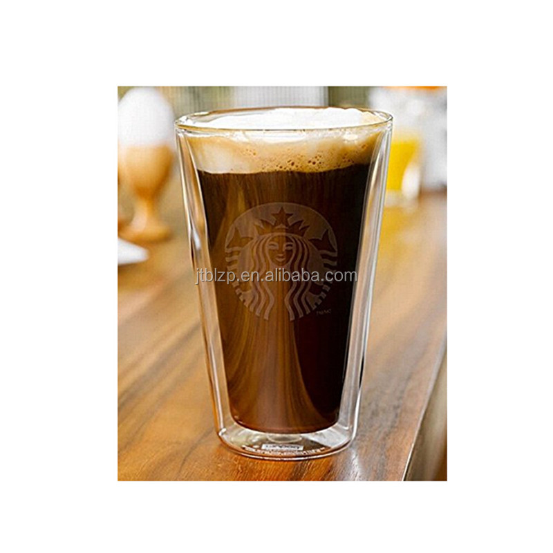 Forma Double Wall Glass Cafe Cup With Handle 6 Oz 10-Count Box Clear Coffee Cups Borosilicate glass by Restaurantware
