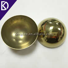 Half 63mm 76mm 80mm 100mm 150mm decorative brass hollow sphere