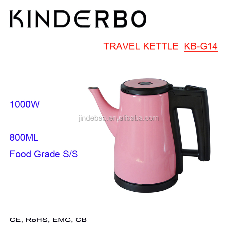 800W 1000W Electric Stainless Steel 800ML 0.8L Travel Camping Mini Kettle