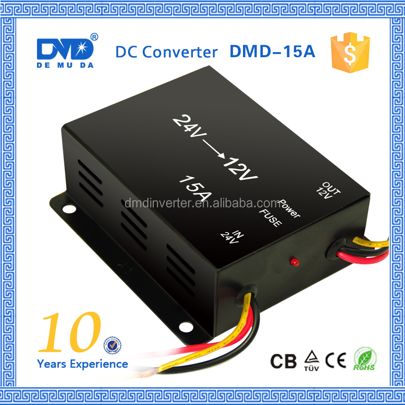 waterproof dustproof dc 24v to 12v 9v 5v dc converter 5a 10a 15a 20a 30a 40a 60a for car truck ship