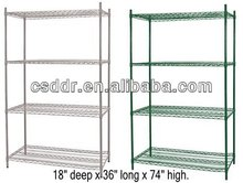 Hot Selling 4 Tier Wire Chrome Shelf with 3 Dividers
