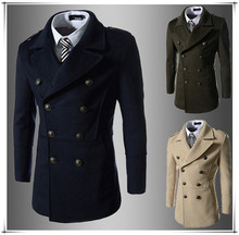 walson Whole high quality long lseeve new business leisure winter men long coat