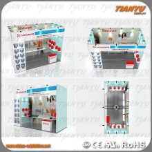 Aluminium Display Frames Free Standing Outdoor Exhibition Stand Design