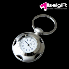 zinc alloy type clock metal keychain/metal keychain with clock