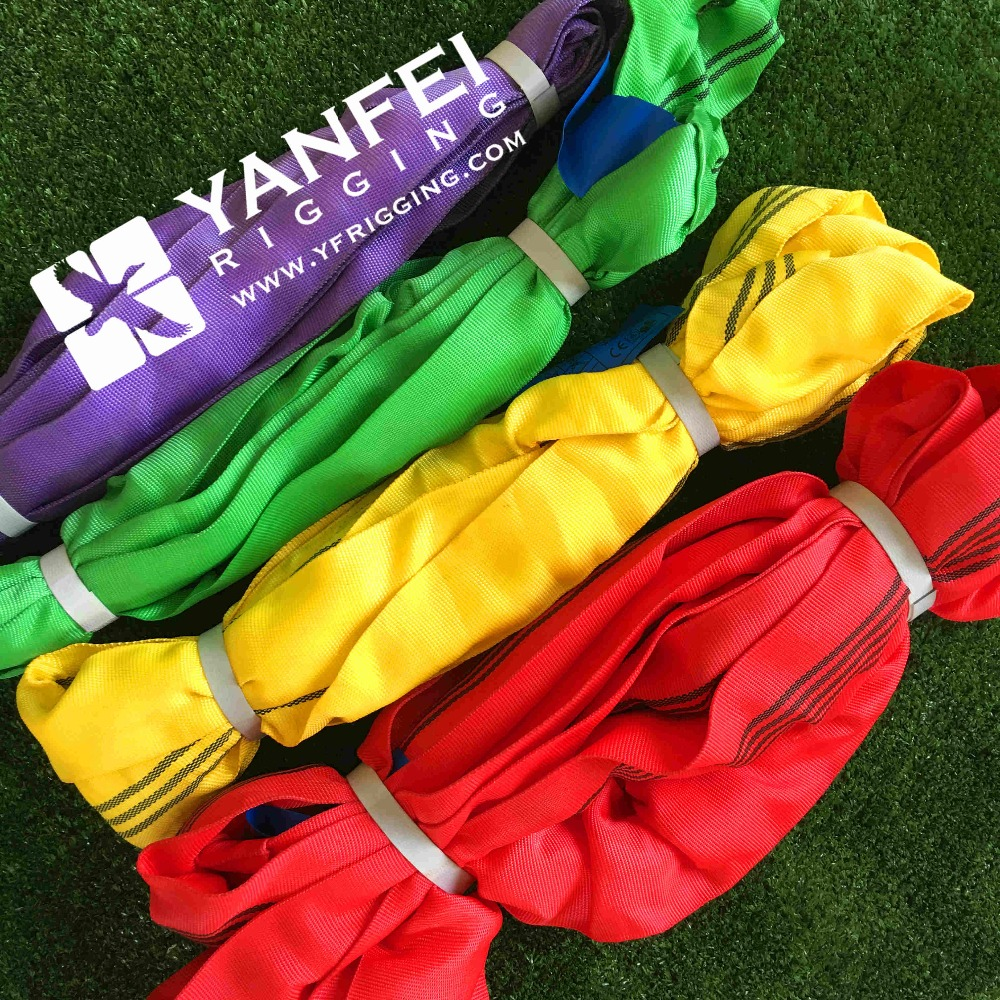 European standard safety factor 7:1 Polyester Round Sling