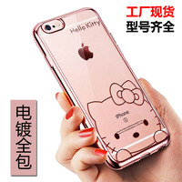 2016 Electroplating TPU Mobile Phone Case mobile phone accessories case for Iphone 6 Case 4.7 and 5.5inch