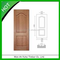 Molded Natural Wood Veneer Faced HDF Door Skin 3mm