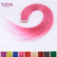 7A grade Tape In Hair Extensions Remy Brazilian Tape Hair Extensions Black Brown Blonde Red Pink Grey Availalbe
