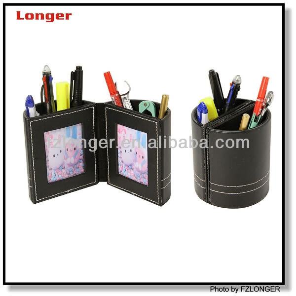 Folding promotion pen holder with pictur frame